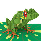 Red-Eyed Tree Frog birthday pop up card - thumbnail