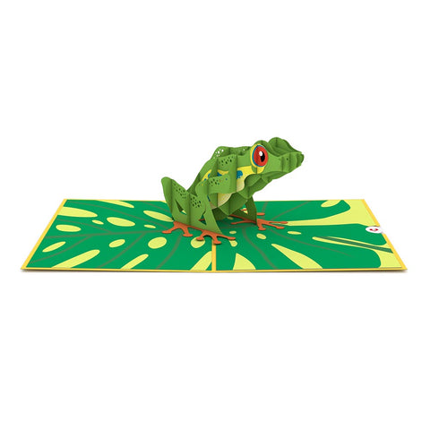 Red Eyed Tree Frog Pop Up Card Greeting