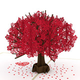 Red Sakura Tree pop up card - thumbnail