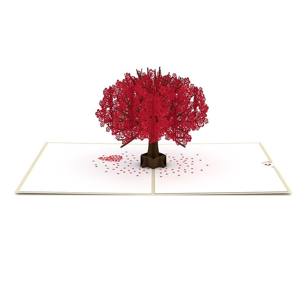 Red Sakura Tree pop up card