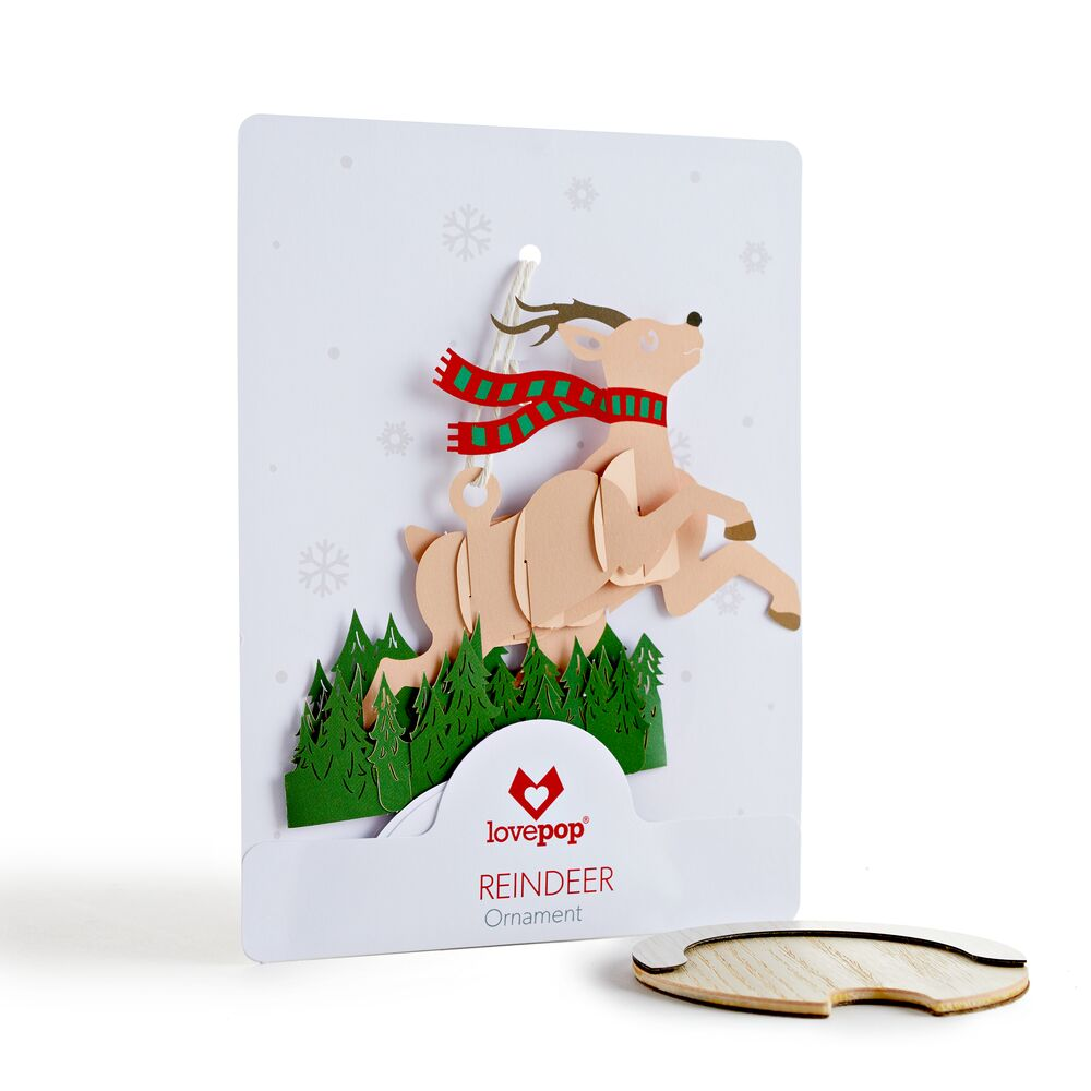 Reindeer Ornament             pop up card