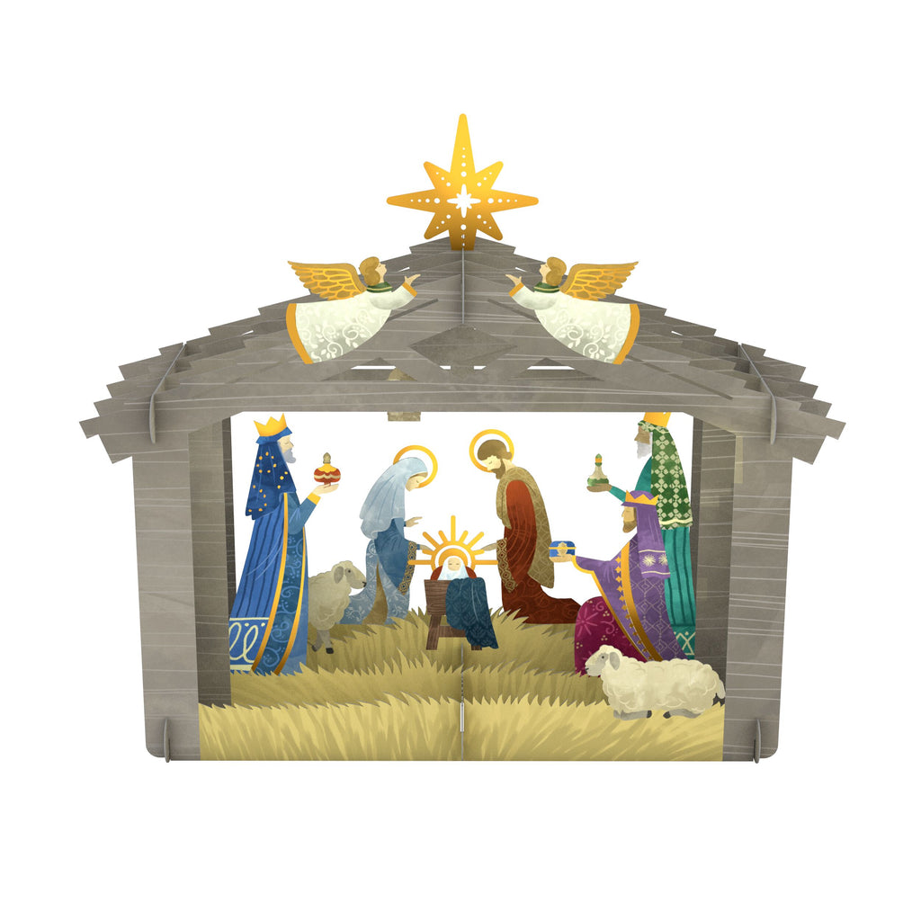 Decorative Nativity Scene             pop up card