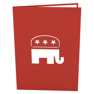 Republican Elephant 3D Pop Up Card