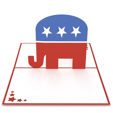 Republican Elephant 3D Pop Up Card greeting card -  Lovepop