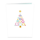 Retro Christmas Tree                                   pop up card - thumbnail