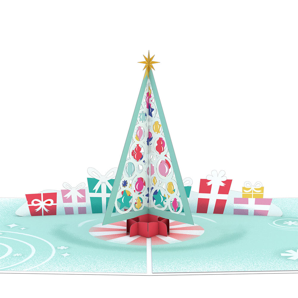 Retro Christmas Tree pop up card
