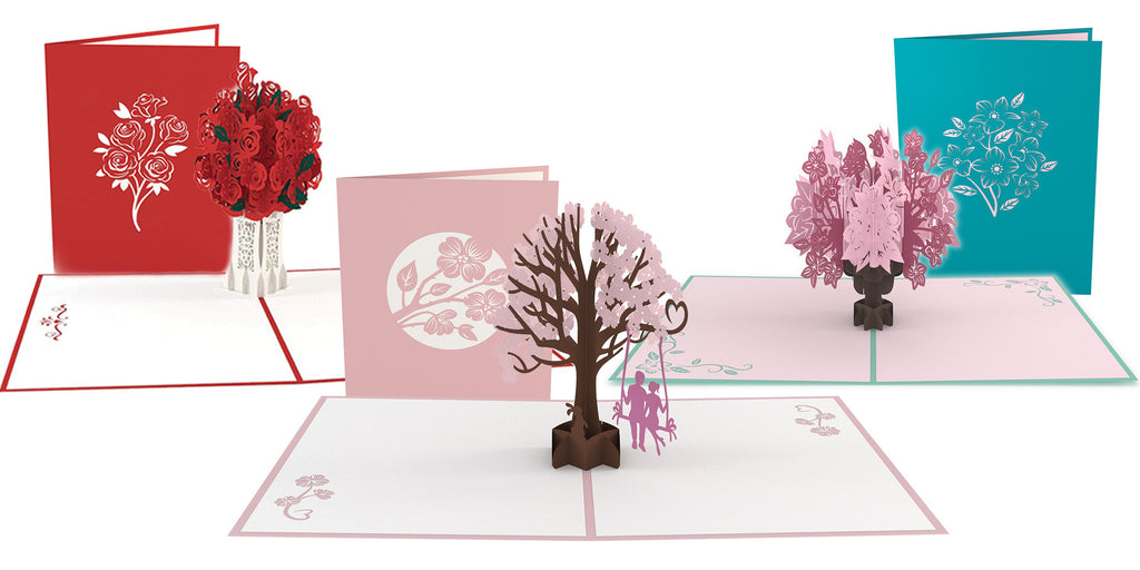 Romantic Valentine 3 Pack pop up card