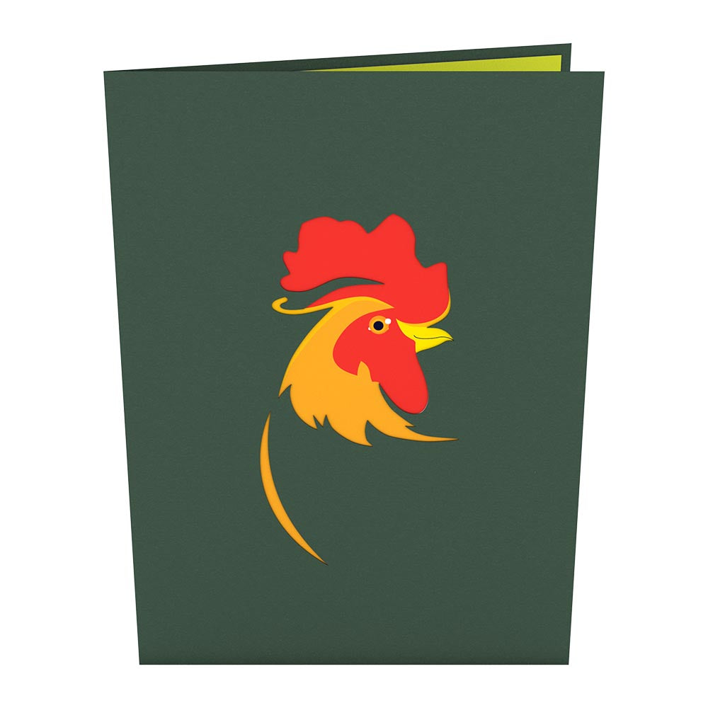 Rooster Pop Up Card
