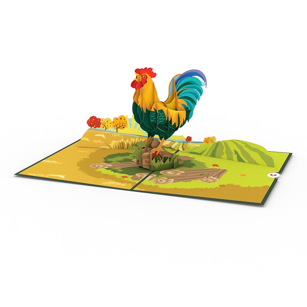 Rooster Pop-Up Card