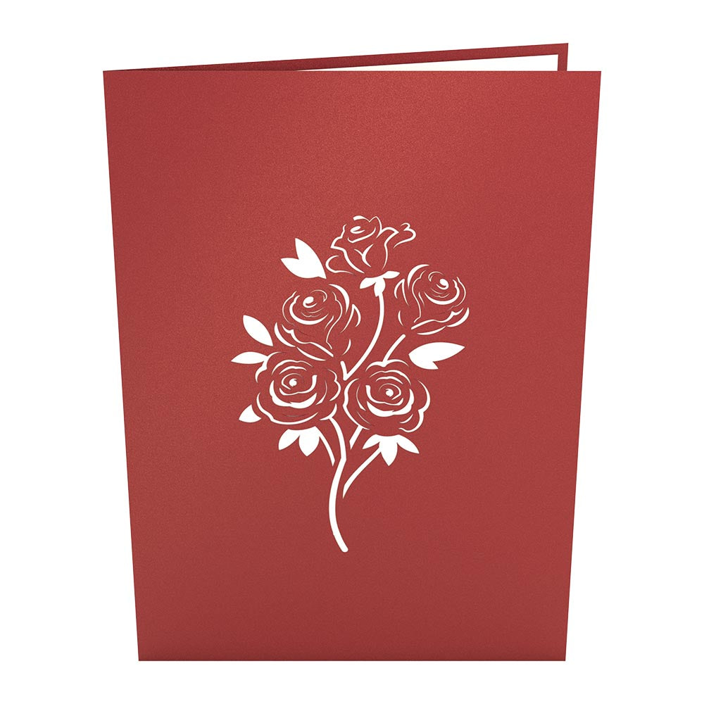 Red Rose Arrangement (2017)             pop up card