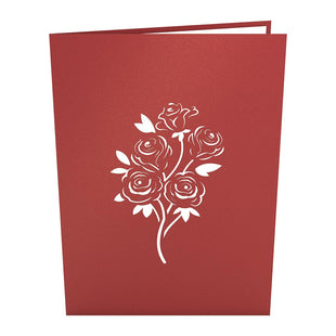 Rose Bouquet Pop Up Valentine's Day Card
