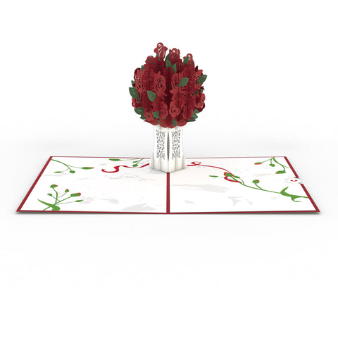 Rose Bouquet Red greeting card -  Lovepop