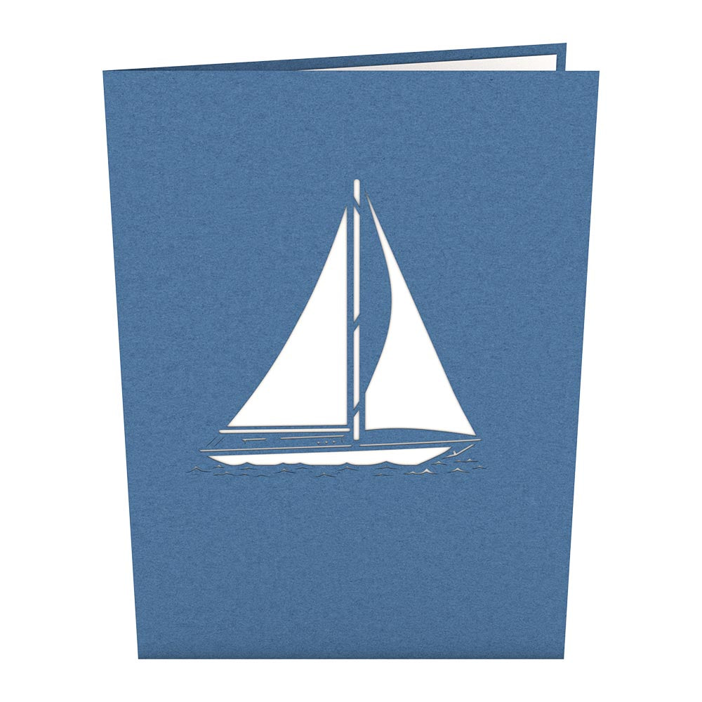 Sailboat Pop Up Father's Day Card