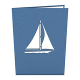 Sailboat birthday pop up card - thumbnail