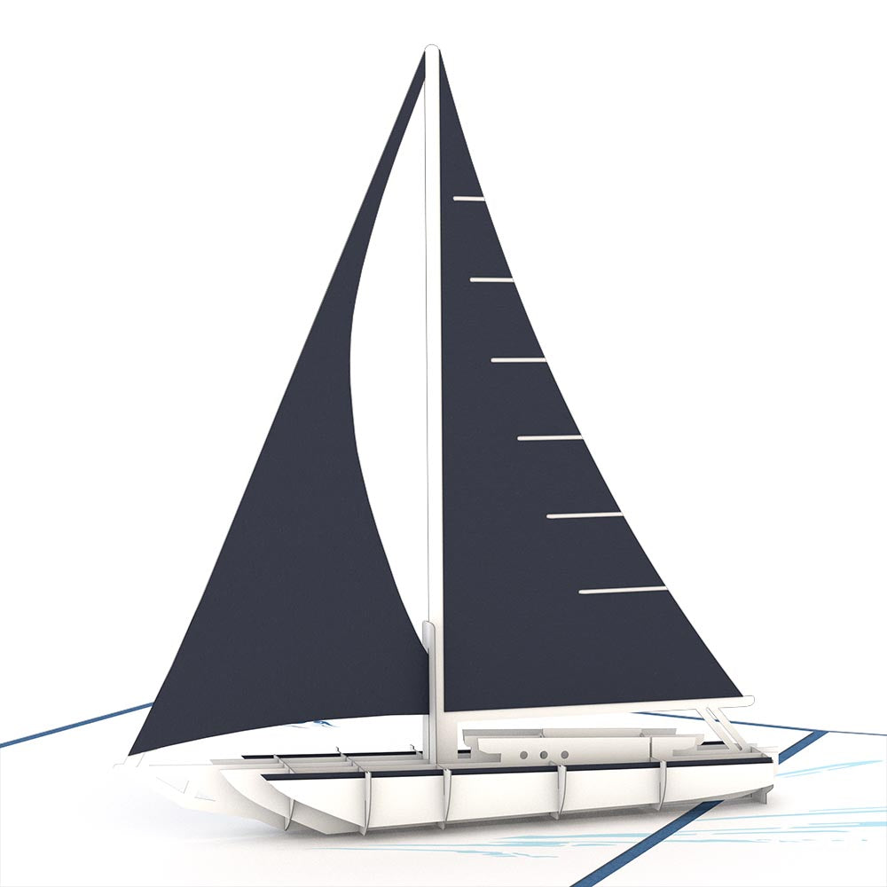 Sailboat birthday pop up card