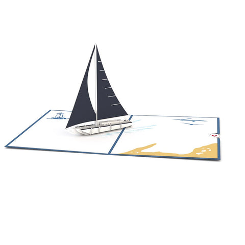 Sailboat Pop Up Father's Day Card greeting card -  Lovepop
