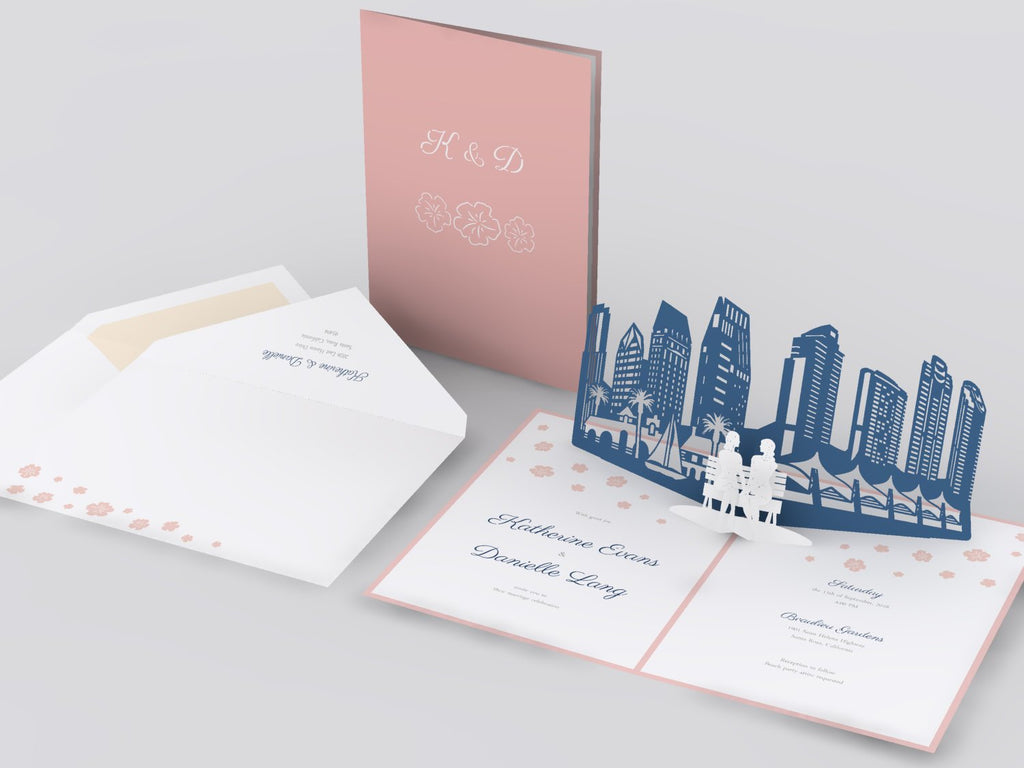 San Francisco Skyline pop up card