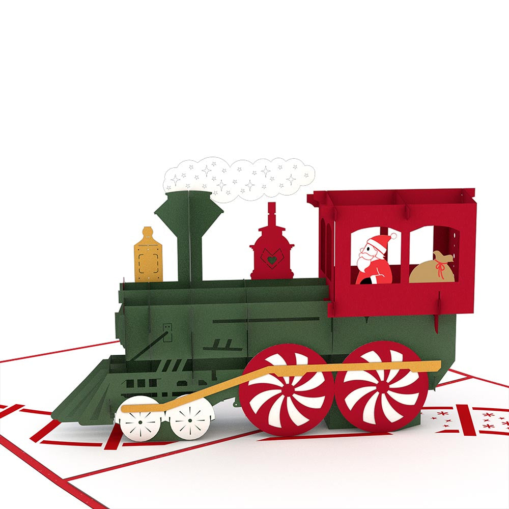 Santa Train Pop Up Christmas Card - Lovepop