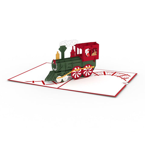 Santa Train greeting card -  Lovepop