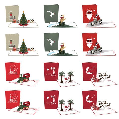 Santa's Delivery Pack greeting card -  Lovepop