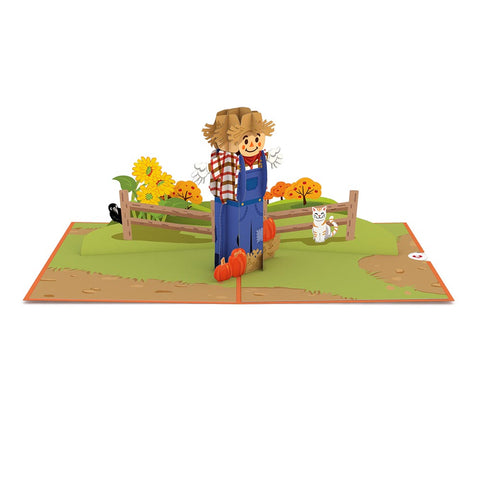 Scarecrow greeting card -  Lovepop