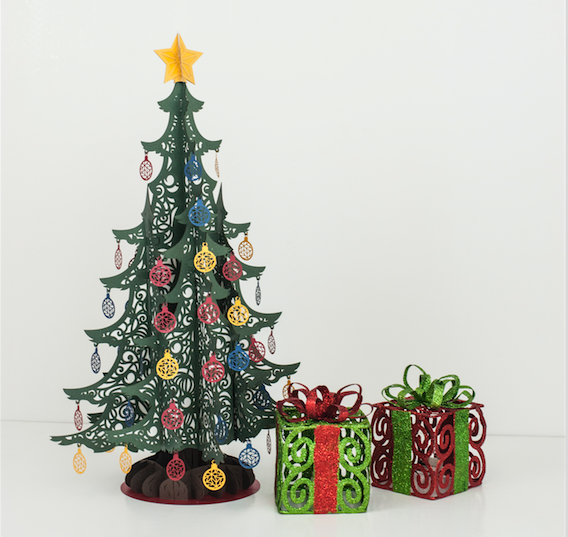 Large Christmas Tree Centerpiece pop up card