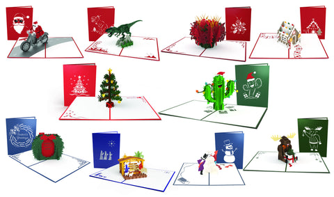"The ""Season's Greetings"" Christmas 10 Pack greeting card -  Lovepop"