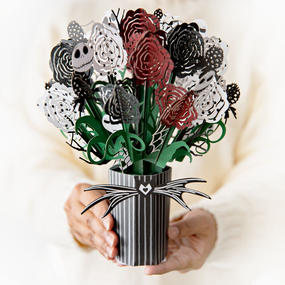 Disney Tim Burton's The Nightmare Before Christmas - Seriously Spooky Bouquet             pop up card