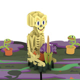Skeleton Groundskeeper pop up card - thumbnail