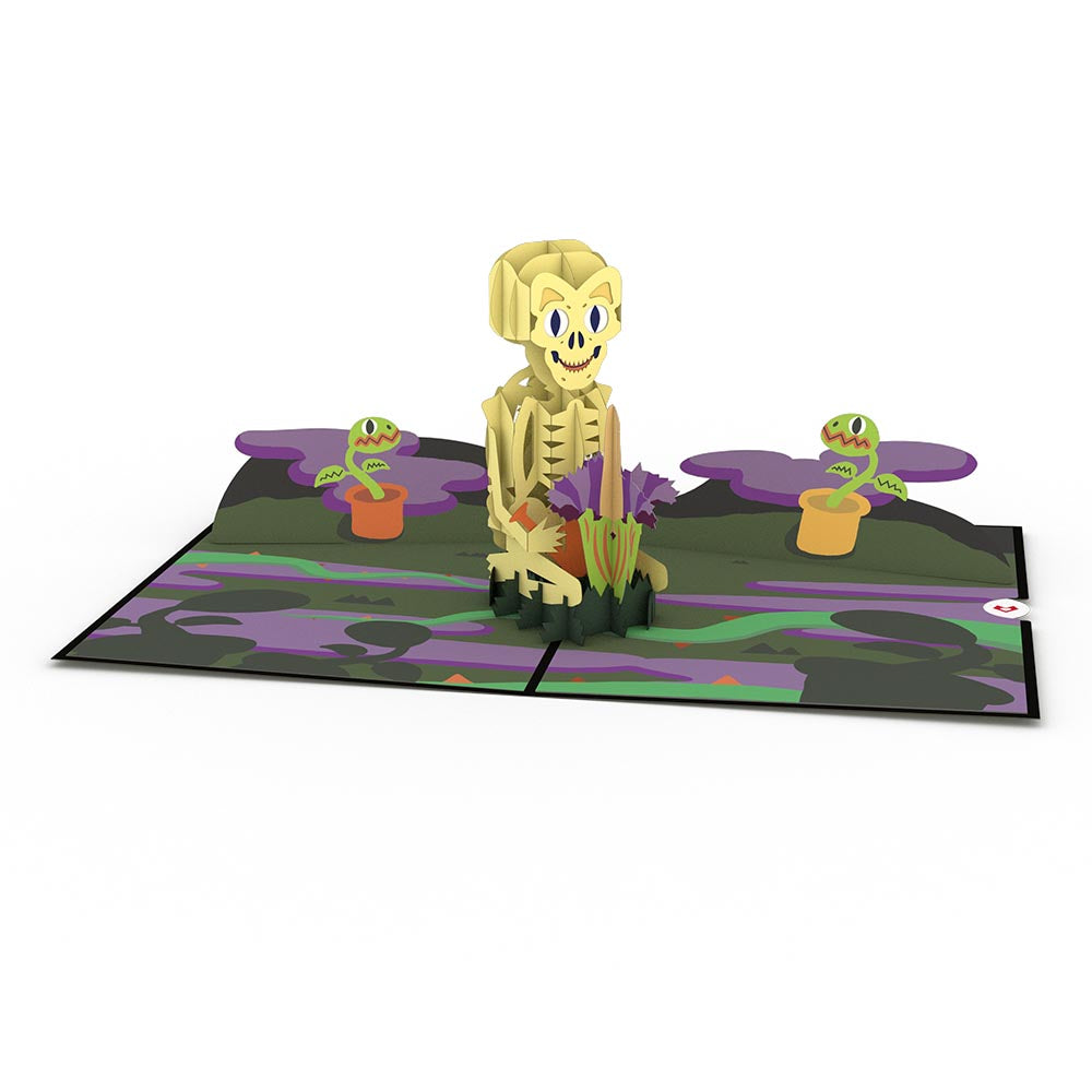 Skeleton Groundskeeper pop up card