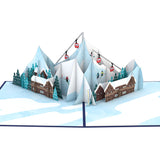 Ski Village                                   pop up card - thumbnail