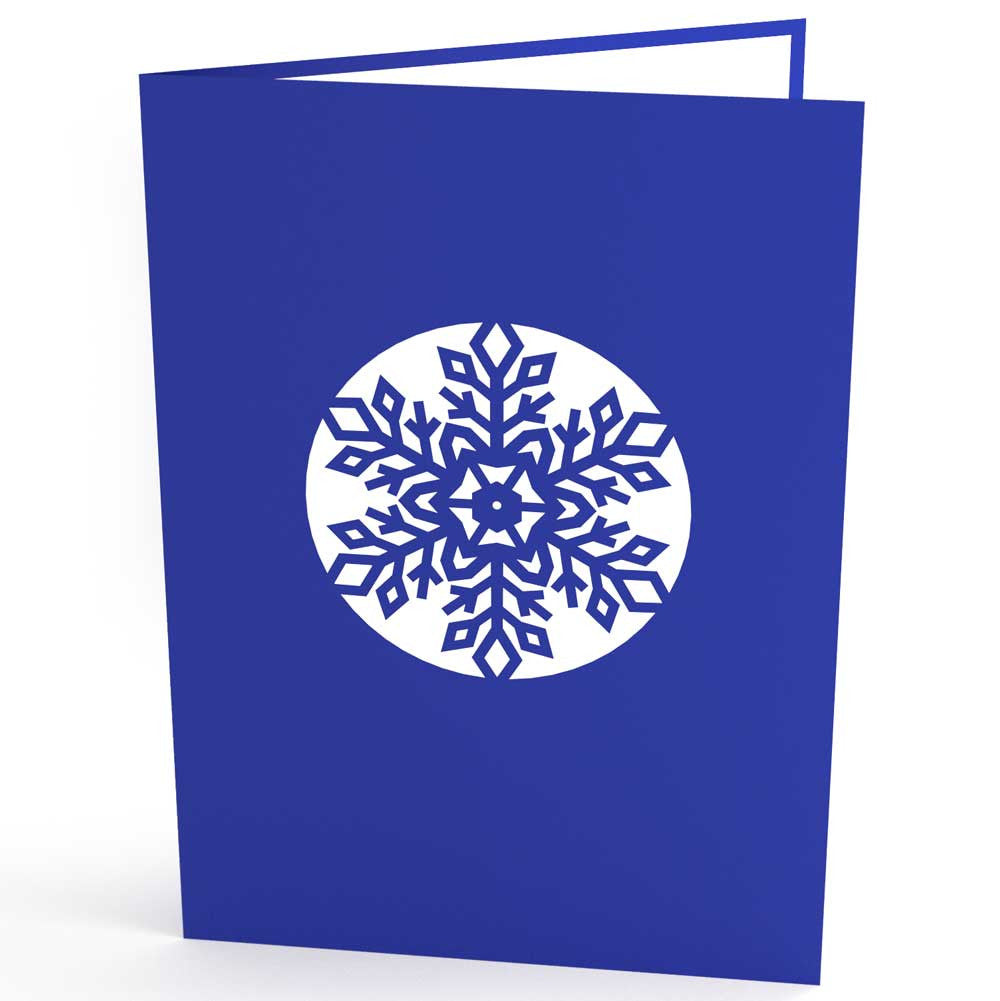 Snowflake pop up card