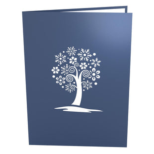 Snowflake Tree Pop Up Christmas Card