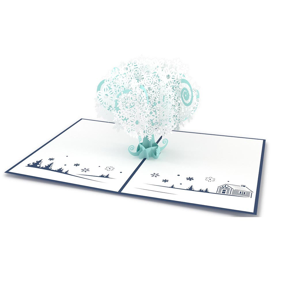 Snowflake Tree pop up card