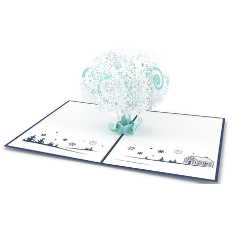 Snowflake Tree Pop Up Christmas Card greeting card -  Lovepop