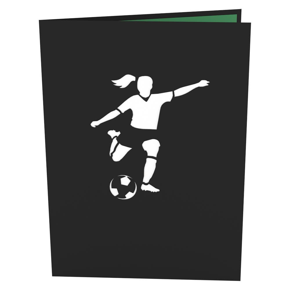 Soccer Gal birthday pop up card