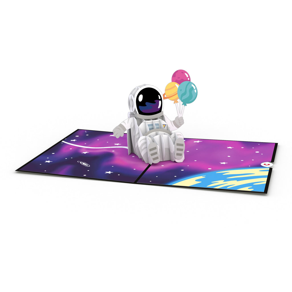 Space Birthday                                         pop up card