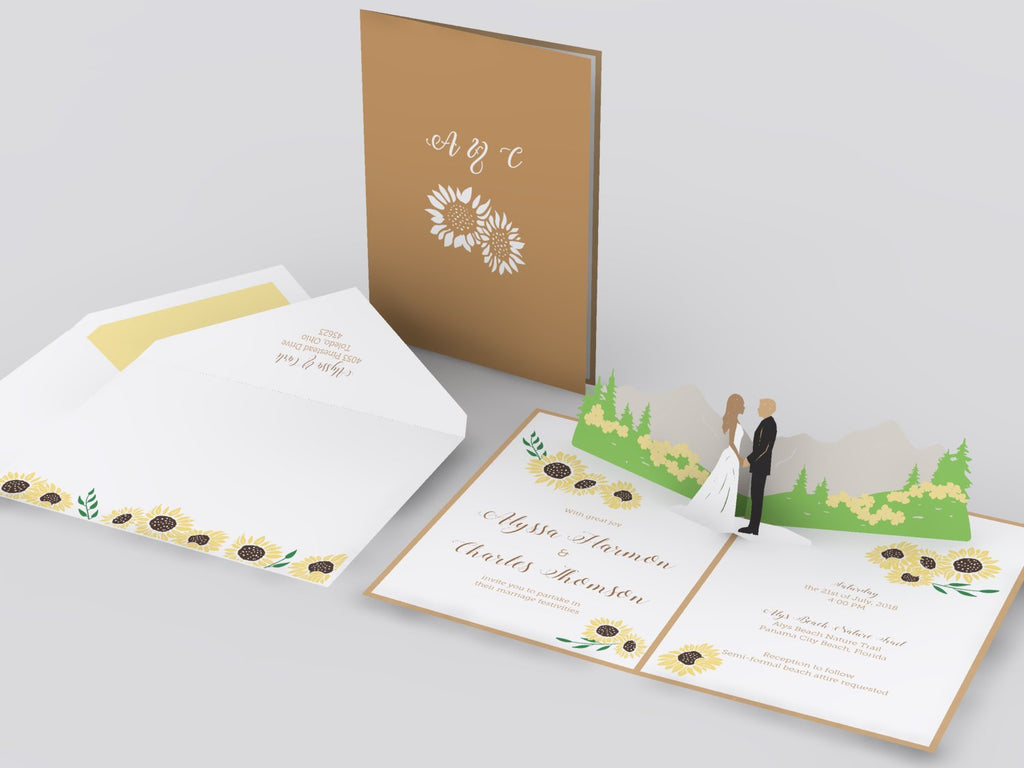 Spring Mountain pop up card