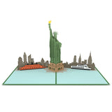 Statue of Liberty pop up card - thumbnail