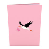 Stork Pink pop up card - thumbnail