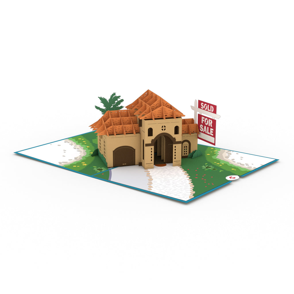 Stucco House for Sale pop up card