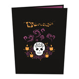 Sugar Skull pop up card - thumbnail