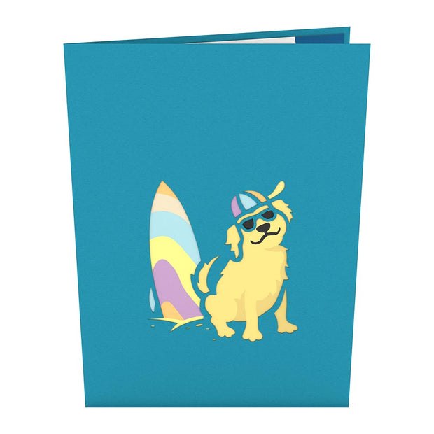 Surf Dog Pop up Card