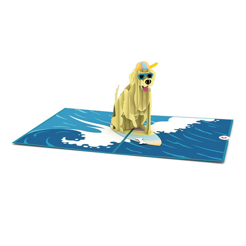 Surf Dog Pop up Card greeting card -  Lovepop