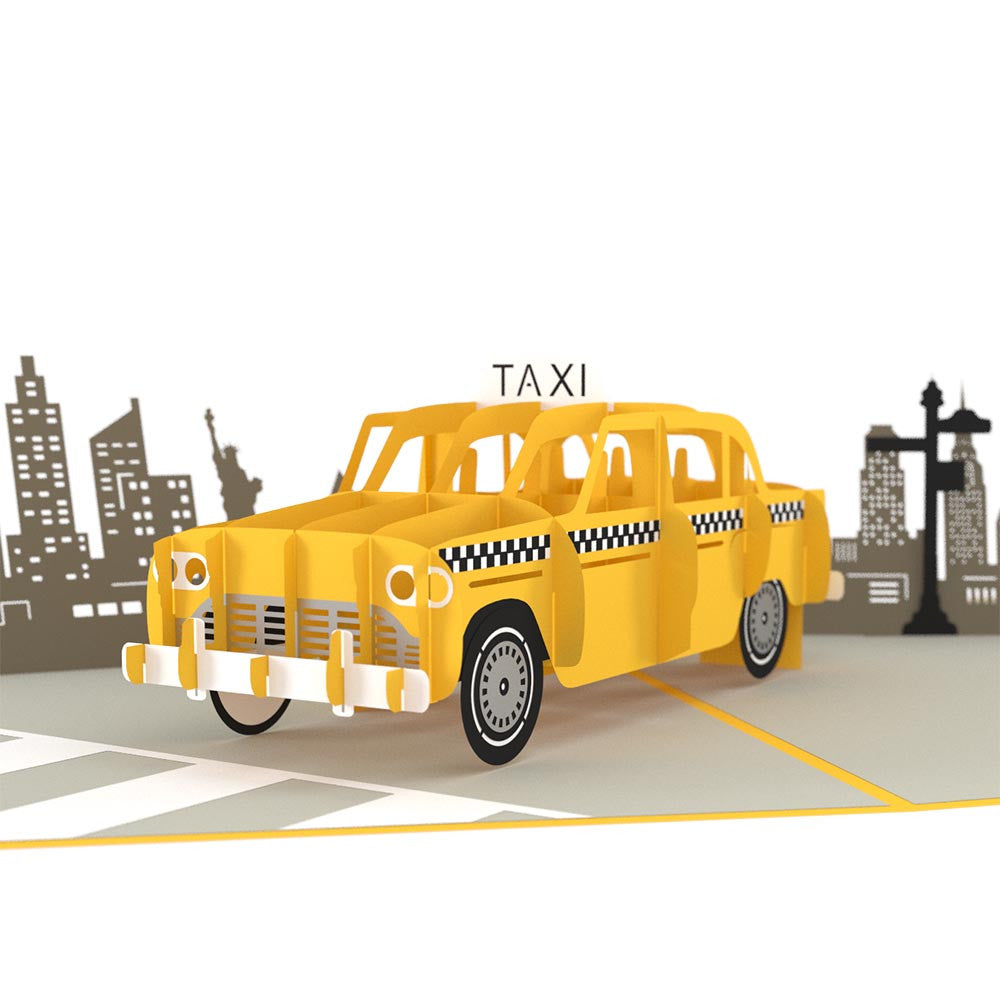Taxi pop up card