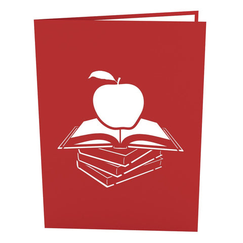 Teacher's Apple Pop Up Thank You Card popup card cover - Lovepop