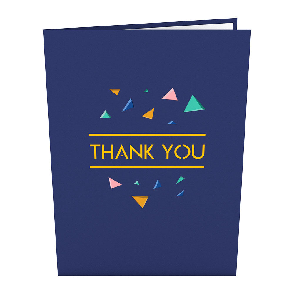 Confetti Thank You Pop Up Card