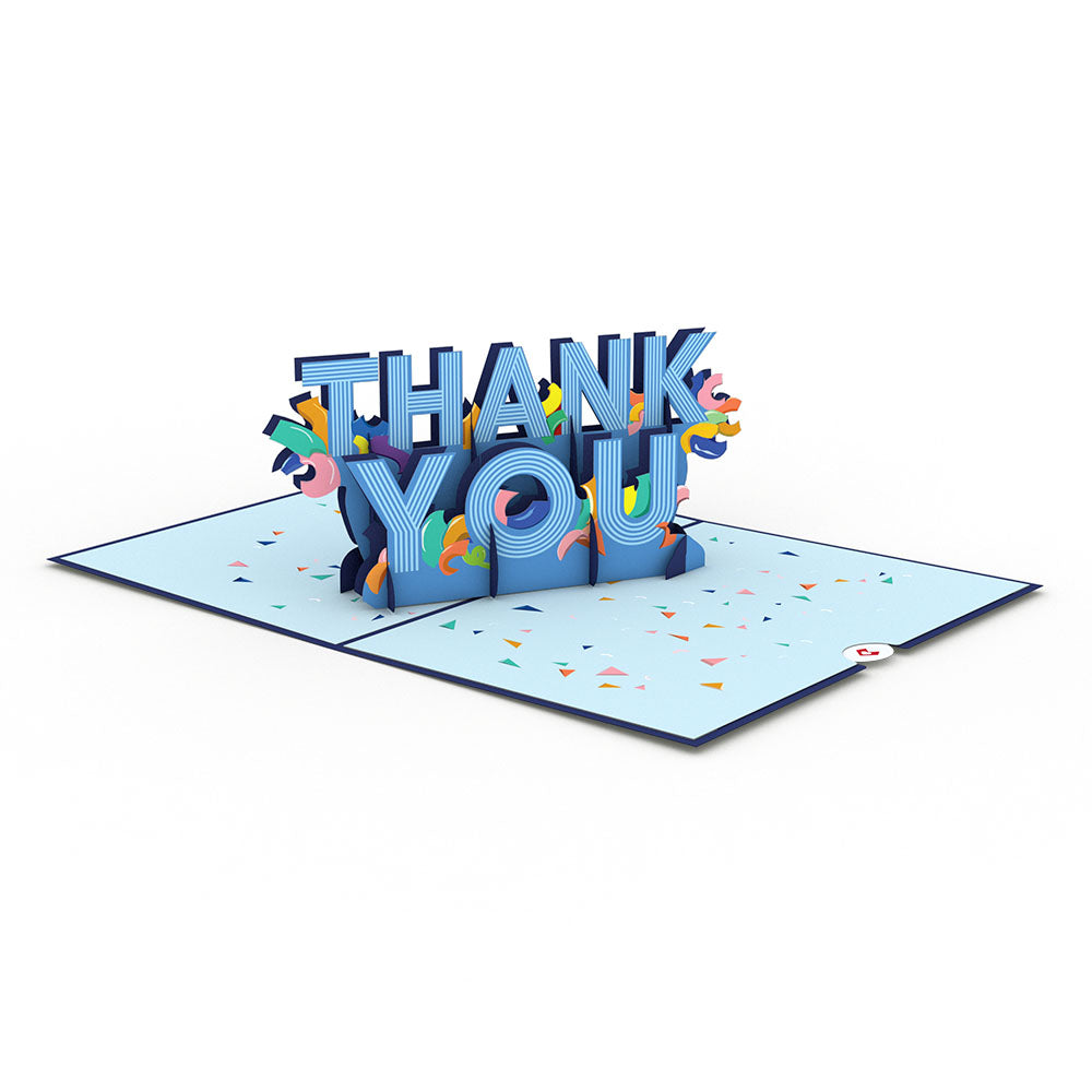 Confetti Thank You Pop-Up Card