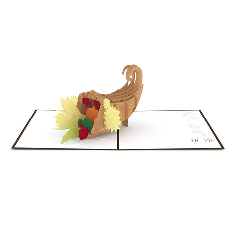 Thanksgiving Cornucopia Pop up Card greeting card -  Lovepop