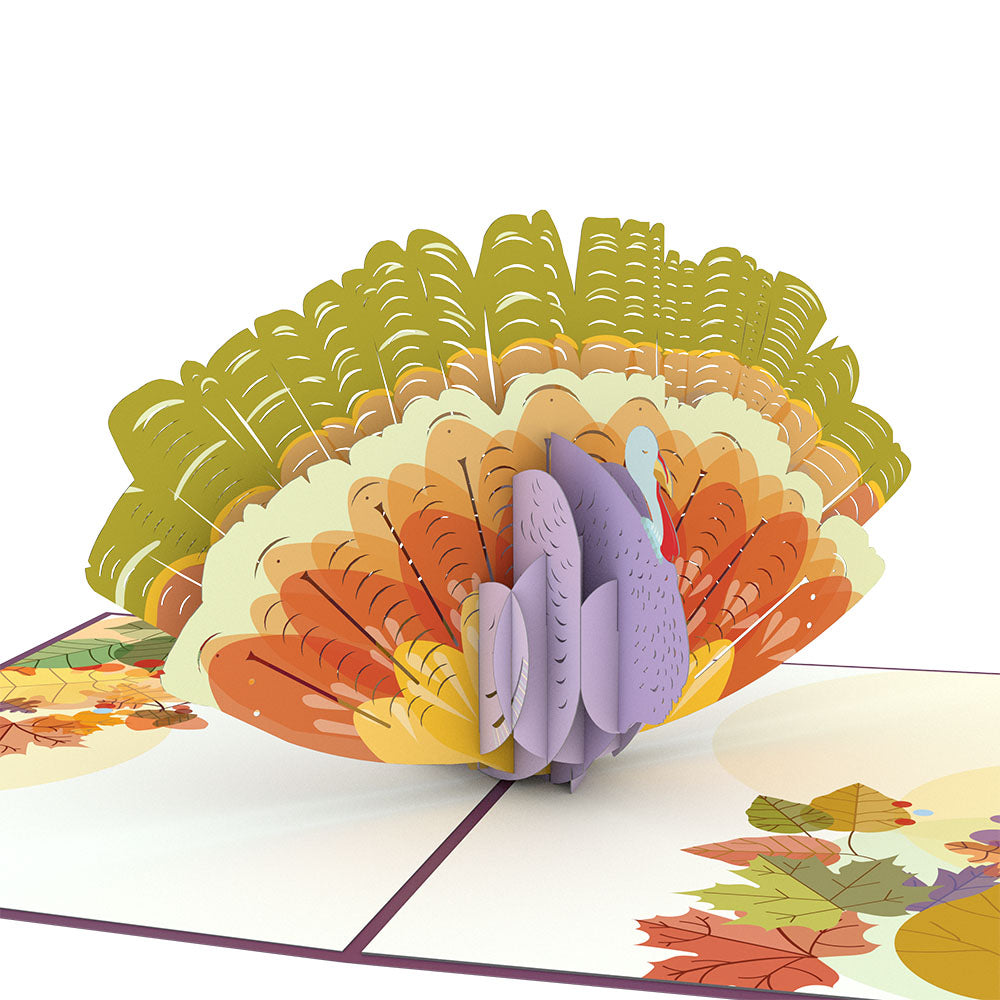 Thanksgiving Harvest Turkey             pop up card